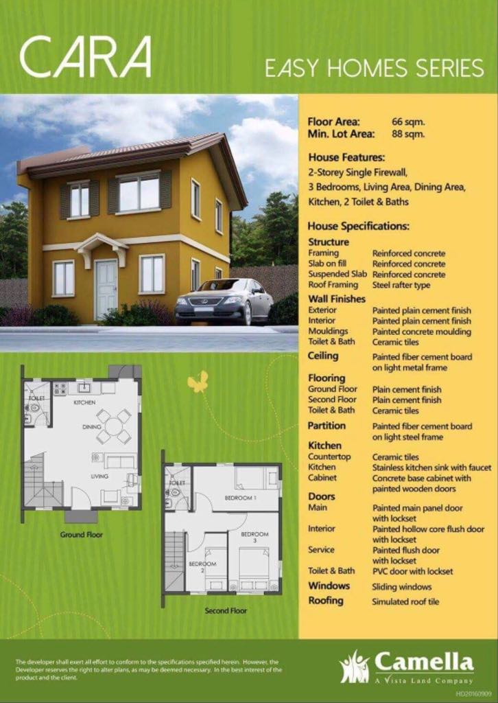 Cara Specification And Floor Plan