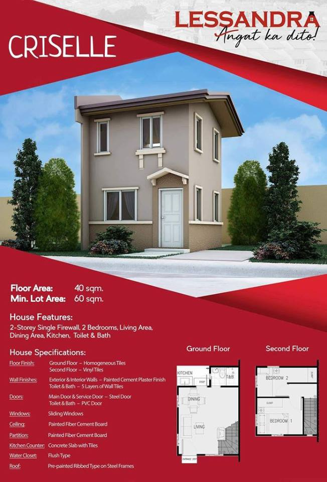 Criselle Specification And Floor Plan